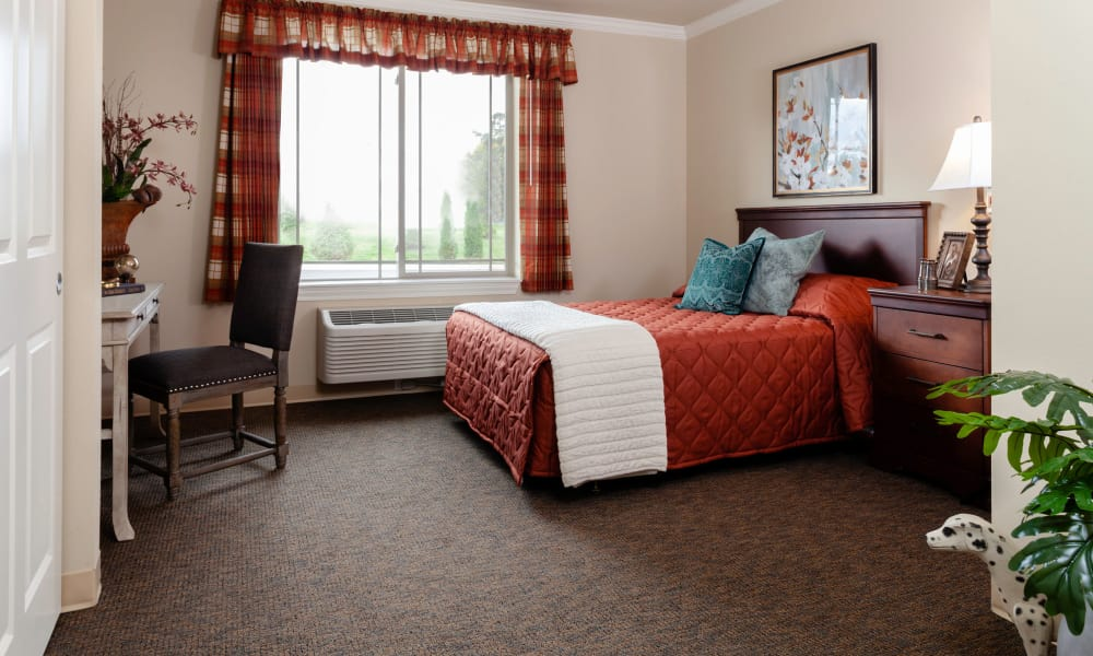 View of the bedroom - in model home at Robinwood Landing Alzheimer's Special Care Center