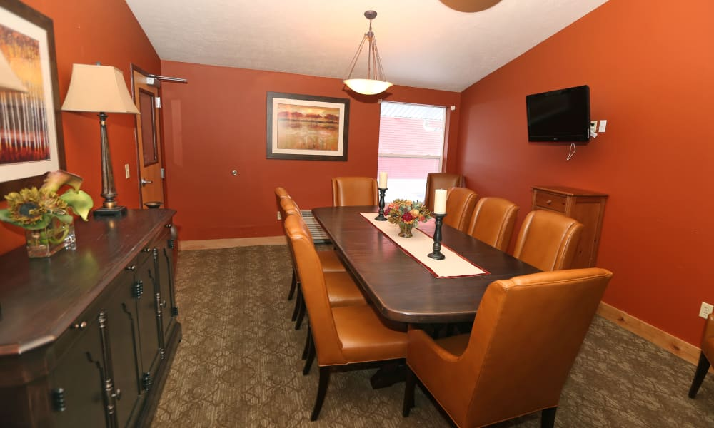 Private dining space at Elk Meadows Assisted Living in Oakley, Utah