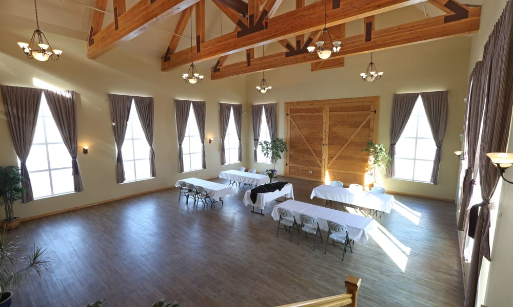 Event space at Elk Meadows Assisted Living in Oakley, Utah