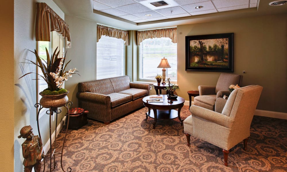 Lobby at Sea View Senior Living Community in Brookings, Oregon