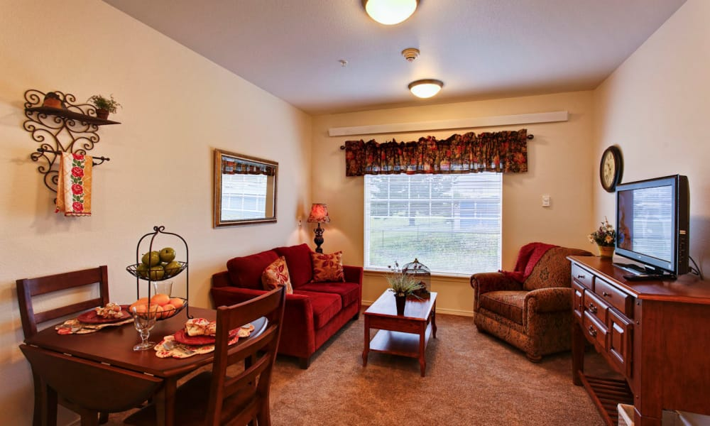 Resident living room at Sea View Senior Living Community in Brookings, Oregon