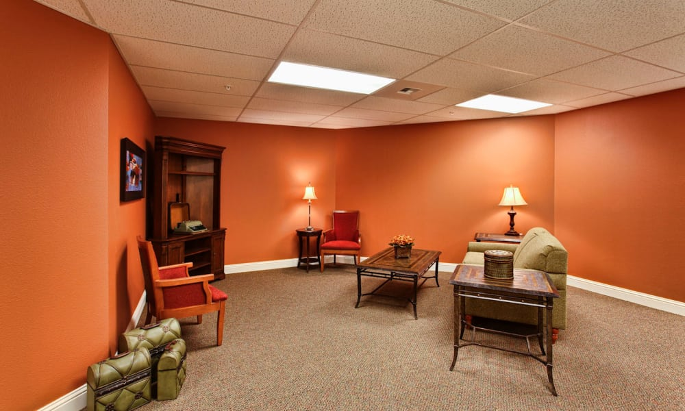 Memory care sitting area at Sea View Senior Living Community in Brookings, Oregon