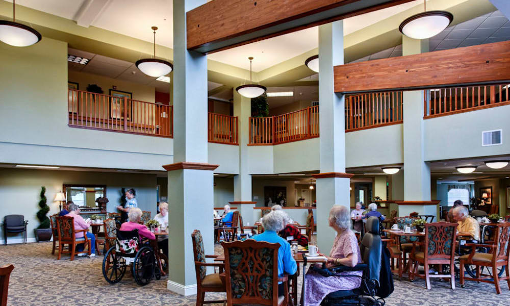 Resident dining area at Sea View Senior Living Community in Brookings, Oregon