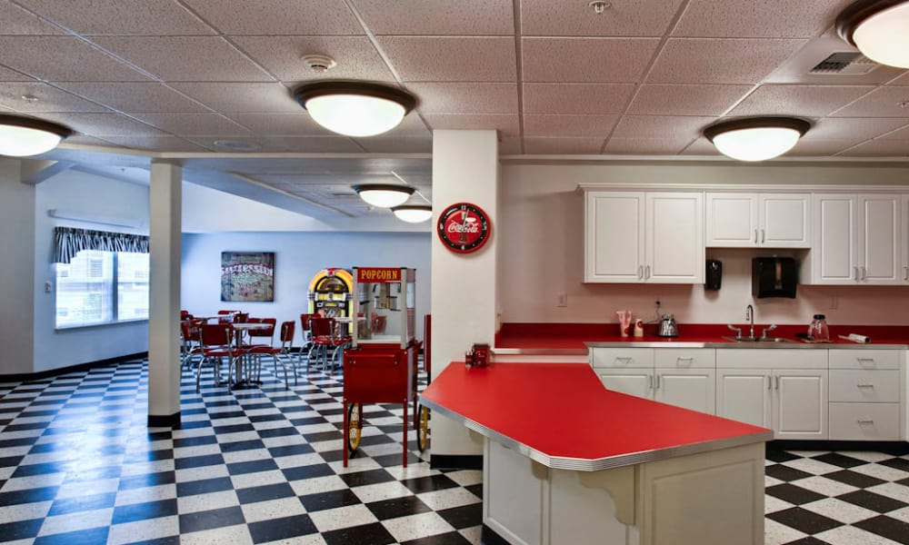 Ice cream parlor at Sea View Senior Living Community in Brookings, Oregon