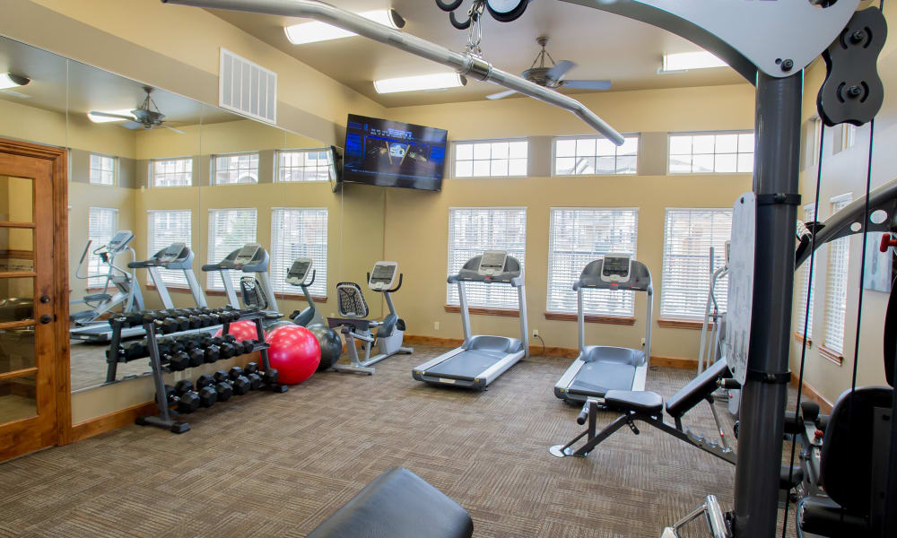 Fitness center for residents at Portofino Apartments in Wichita, Kansas