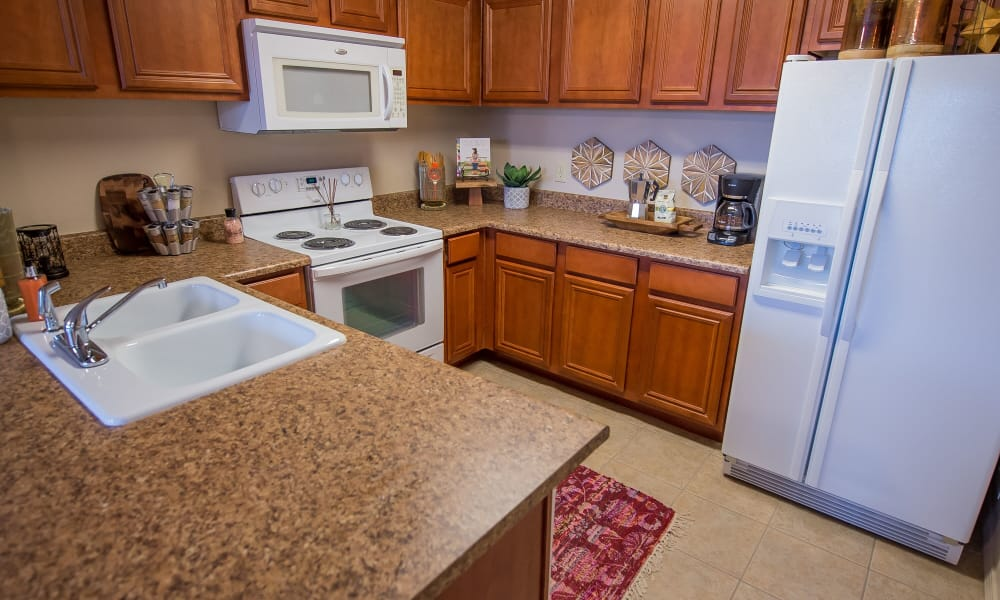 Kitchen with plenty of cabinet space at Prairie Springs in Oklahoma City, Oklahoma