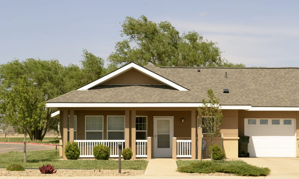 Close up of the cottages at Wheatfields Senior Living Community in Clovis, New Mexico