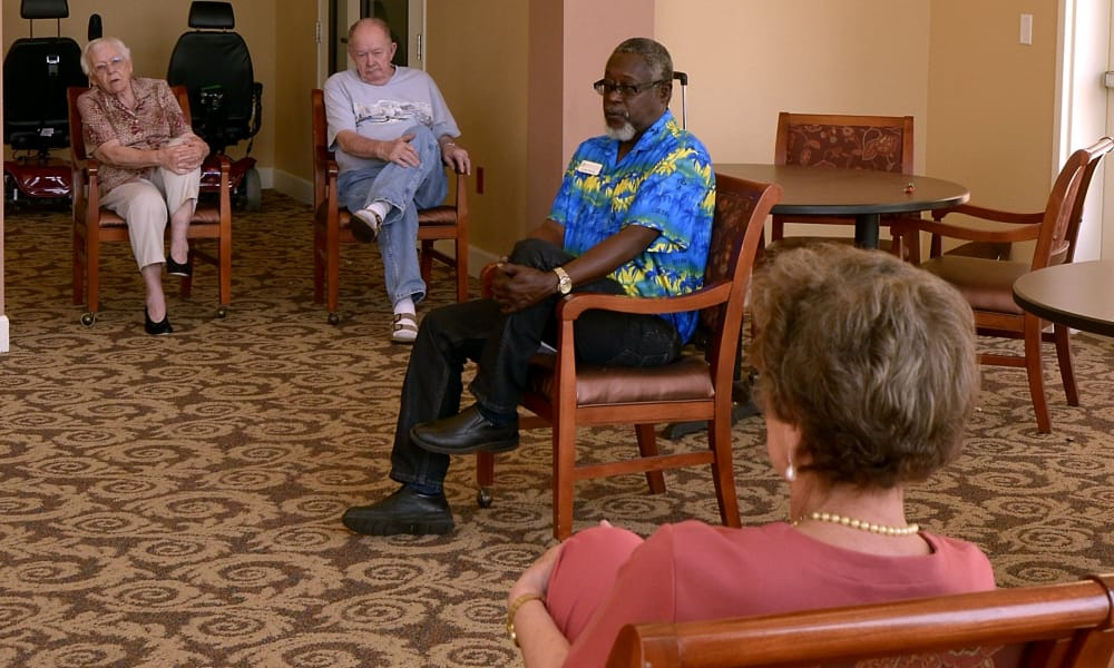 Exercise class at Wheatfields Senior Living Community in Clovis, New Mexico