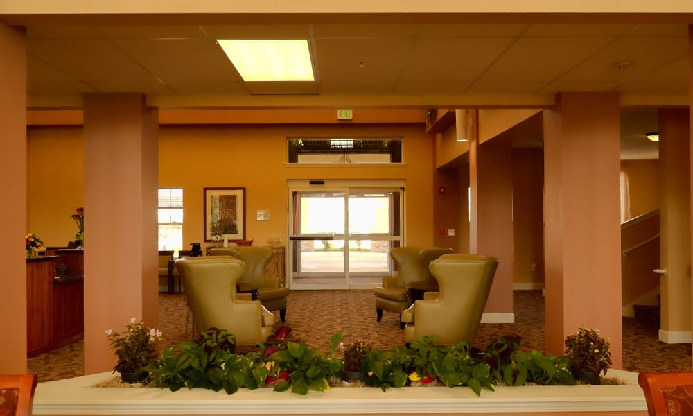 Lobby at Wheatfields Senior Living Community in Clovis, New Mexico