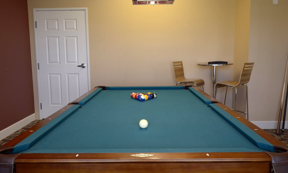 Pool table at Wheatfields Senior Living Community in Clovis, New Mexico