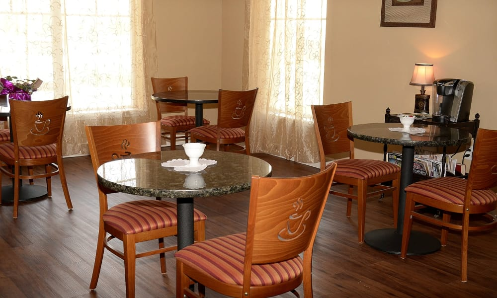 Cafe area at Wheatfields Senior Living Community in Clovis, New Mexico