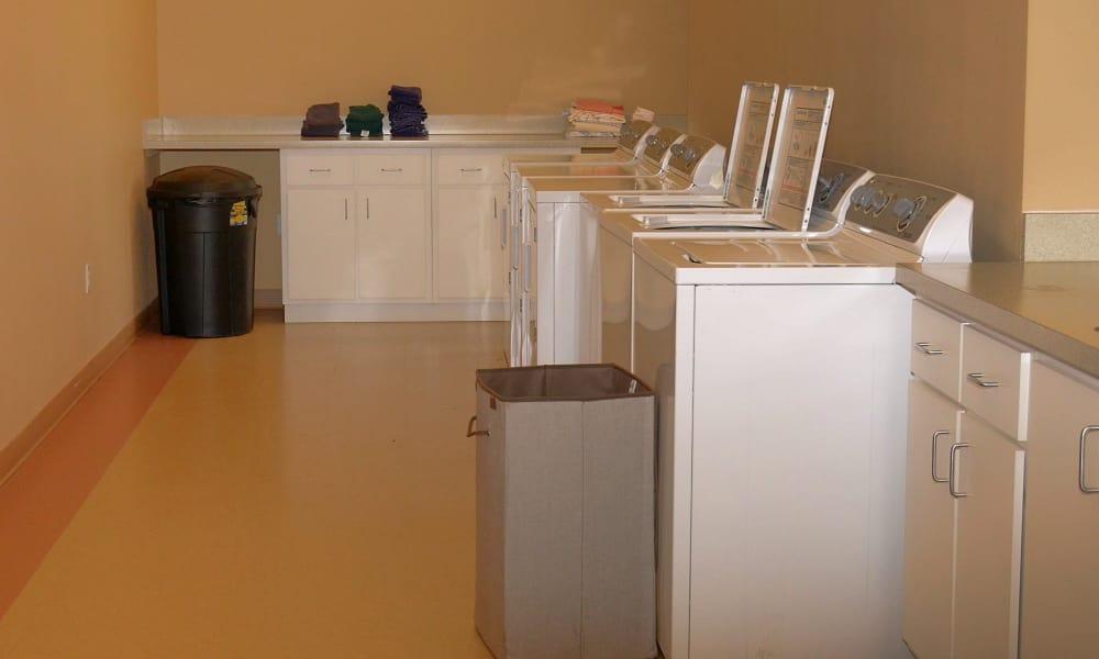 Laundry room at Wheatfields Senior Living Community in Clovis, New Mexico