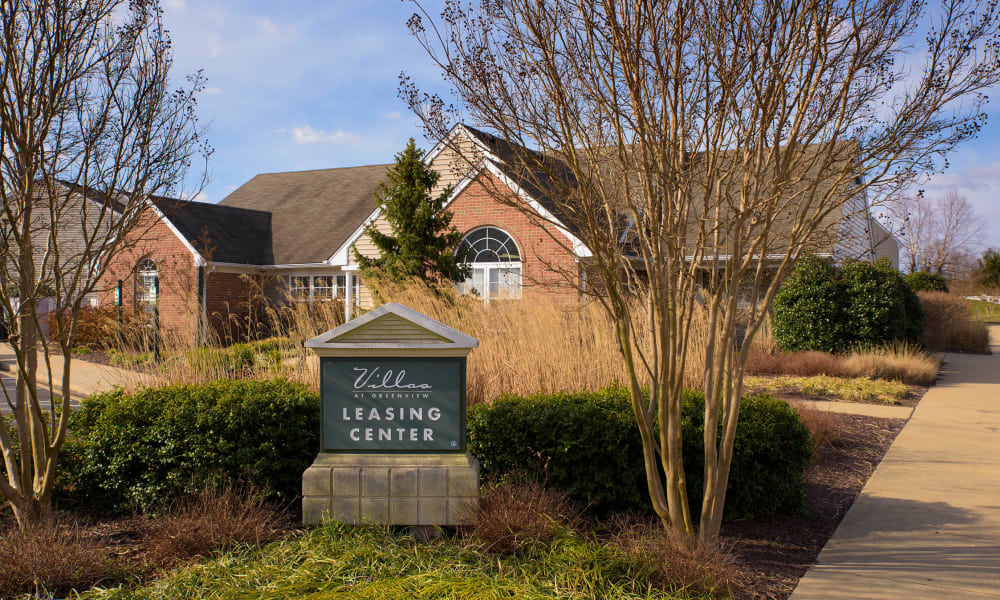 Leasing center at Villas at Greenview West in Great Mills, Maryland