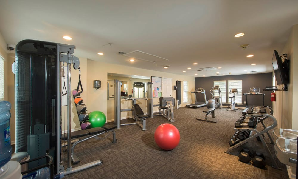 Fitness Center at Park Villas Apartments in Lexington Park, Maryland