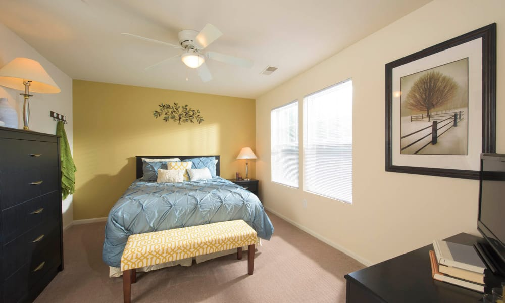 Bedroom at Park Villas Apartments in Lexington Park, Maryland