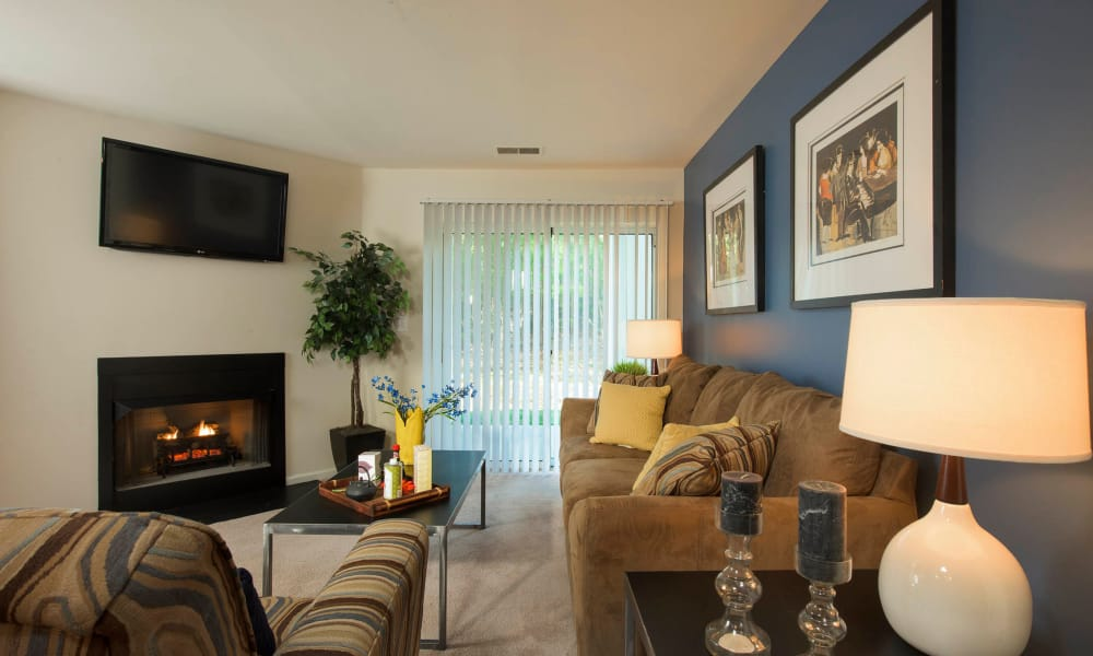 Park Villas Apartments offers a Living Room in Lexington Park, Maryland