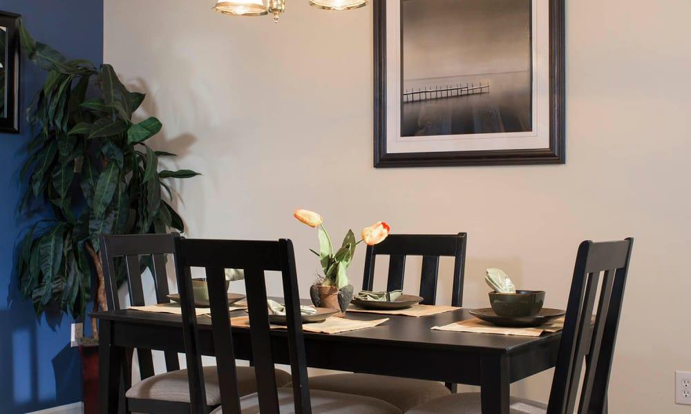 Dinning room at Park Villas Apartments in Lexington Park, Maryland
