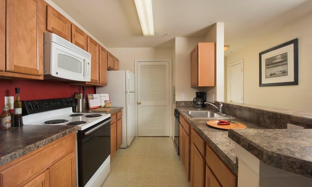 Kitchen at Park Villas Apartments in Lexington Park, Maryland