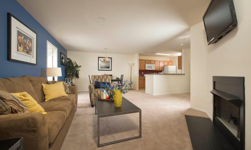 Living Room at Park Villas Apartments in Lexington Park, Maryland