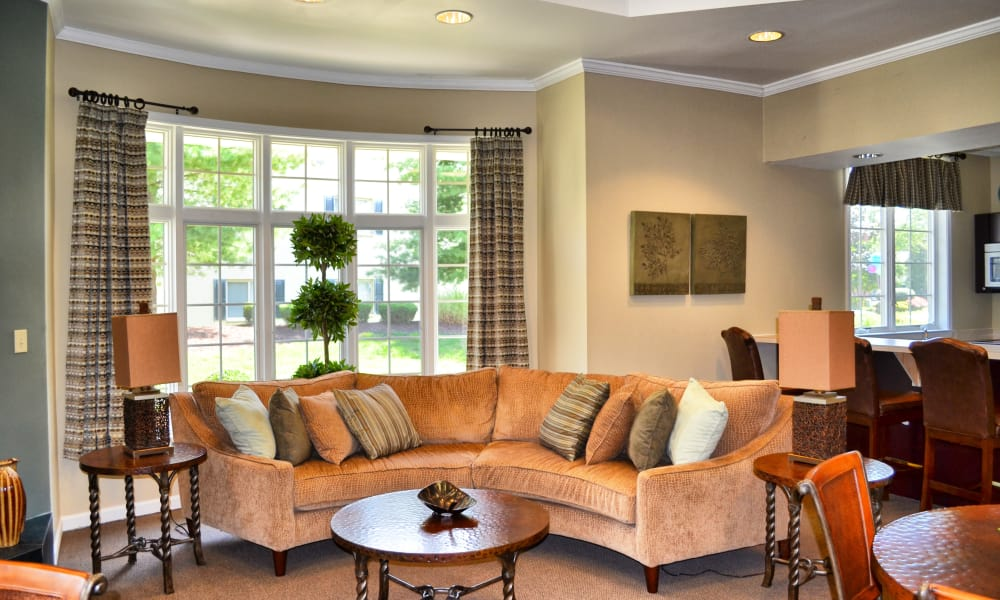 Our cozy apartments in Levittown, Pennsylvania showcase a living room