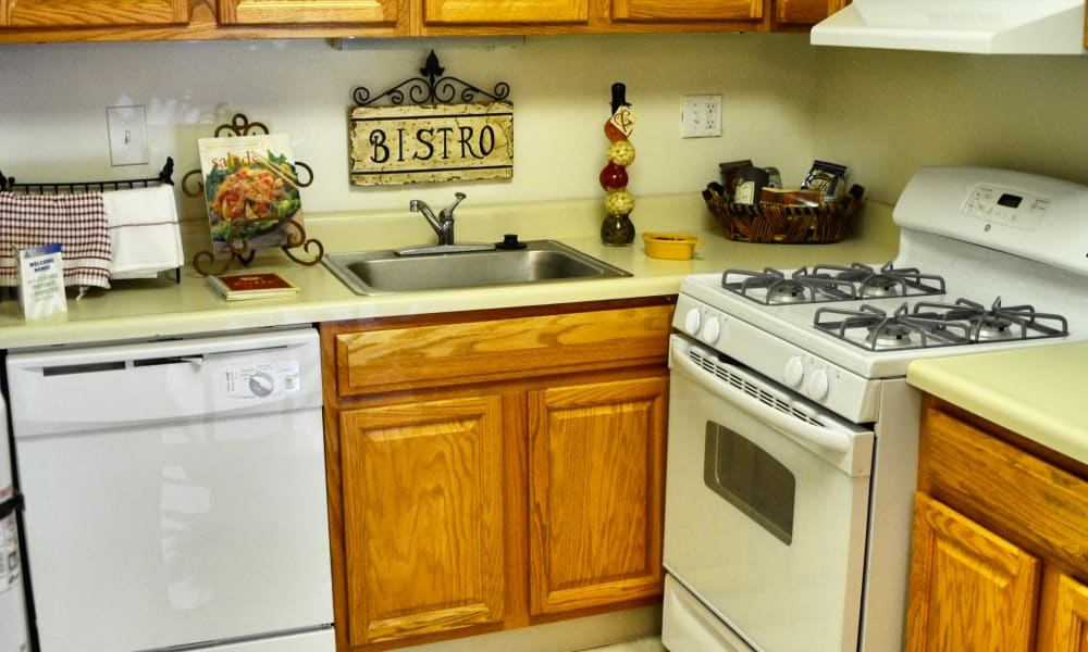 Cozy kitchen at Chesterfield Apartment Homes in Levittown, Pennsylvania