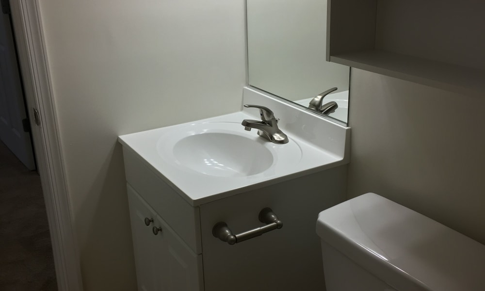 Bathroom at Chesterfield Apartment Homes in Levittown, Pennsylvania