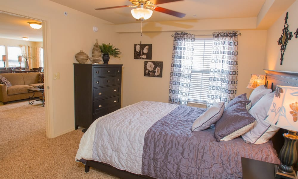 Spacious bedroom at Coffee Creek Apartments in Owasso, Oklahoma
