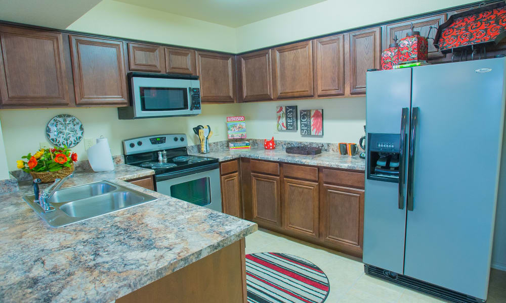 Bright kitchen at Coffee Creek Apartments in Owasso, Oklahoma