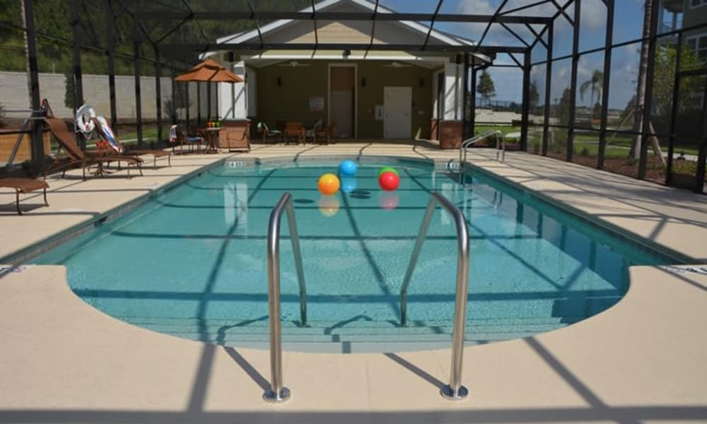 Indoor community pool for residents at Orchard Heights Gracious Retirement Living in Clermont, Florida