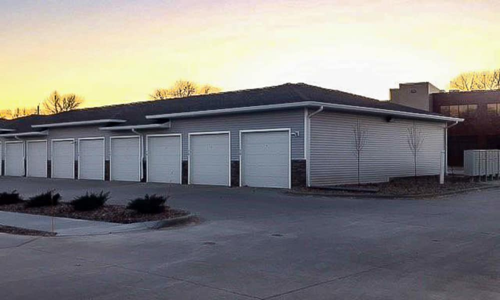 Garages and storage at Johnston Gardens in Johnston, Iowa