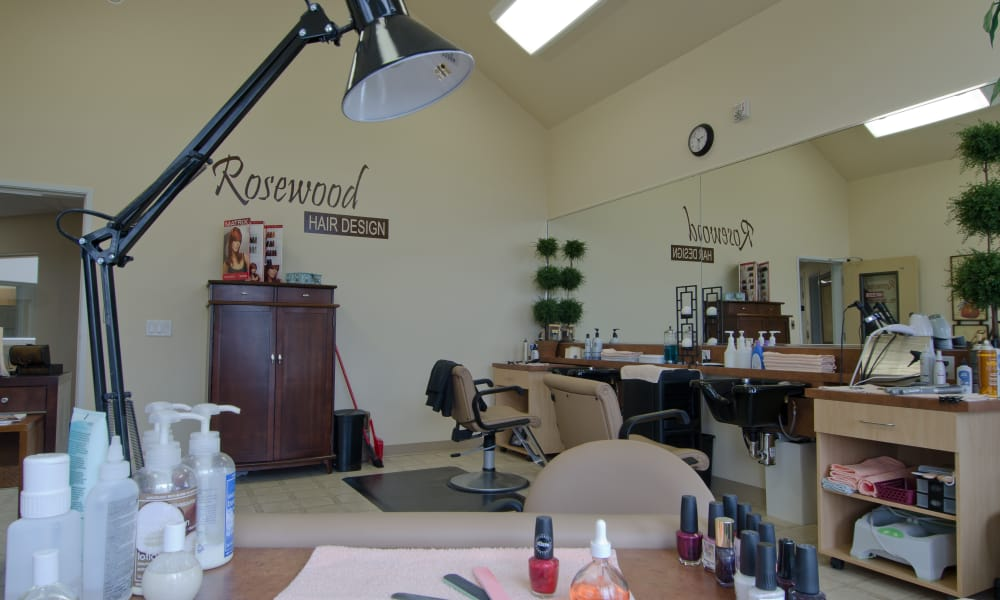 Community hair and nail salon at Rosewood Estates in Cobourg, Ontario