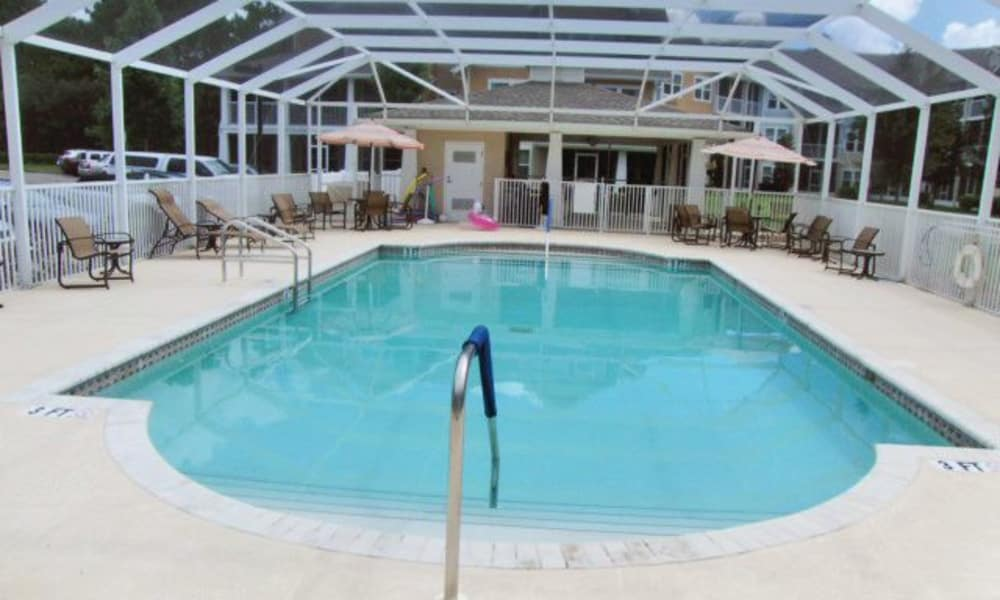 Indoor pool for residents at Salishan Gracious Retirement Living in Spring Hill, Florida