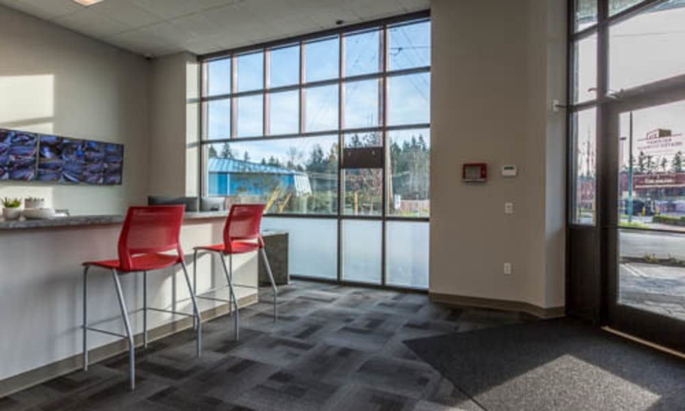 Welcoming office at Raceway Heated Storage - Covington in Covington, Washington