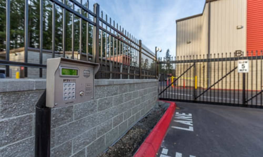 Keypad entry at Raceway Heated Storage - Covington in Covington, Washington
