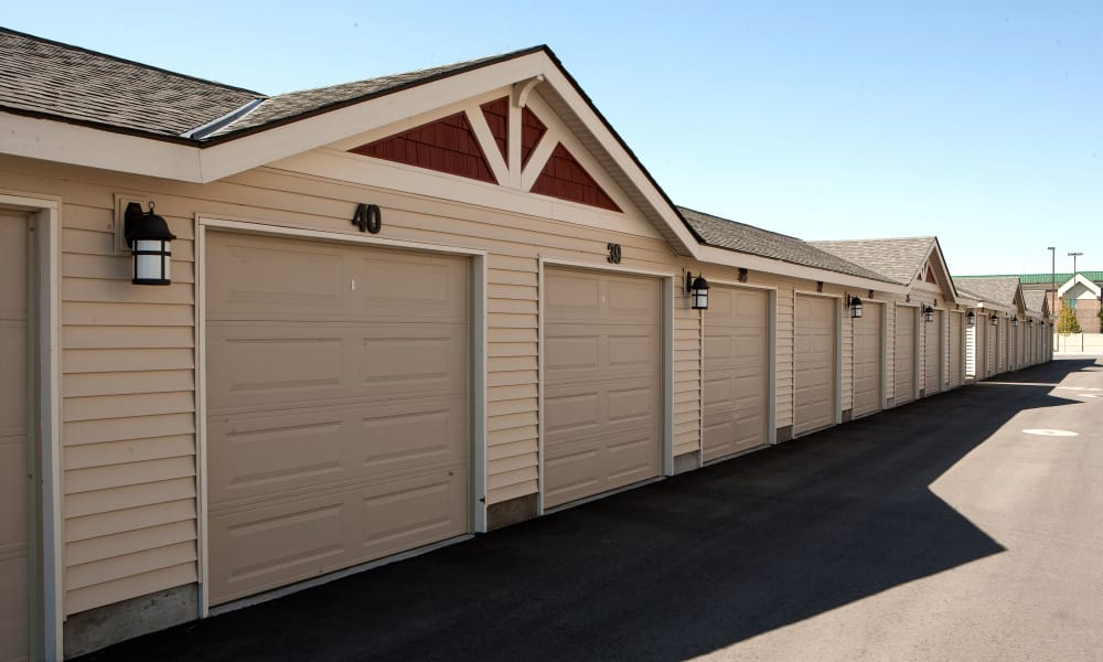 Private garages at Affinity at Lacey in Lacey, Washington