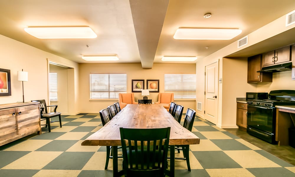 Family dining room at Affinity at Lacey in Lacey, Washington