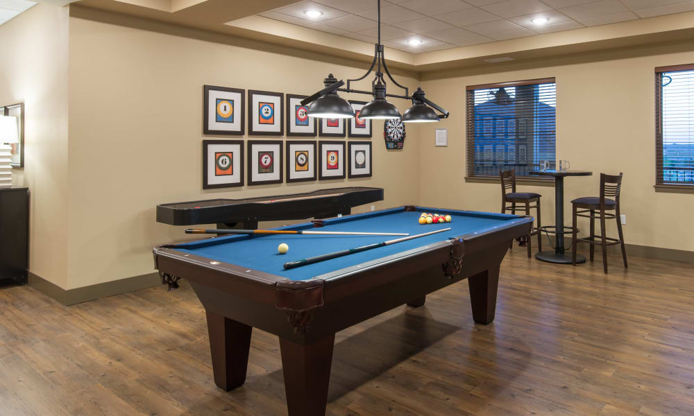 Pool table at Affinity at Lacey in Lacey, Washington