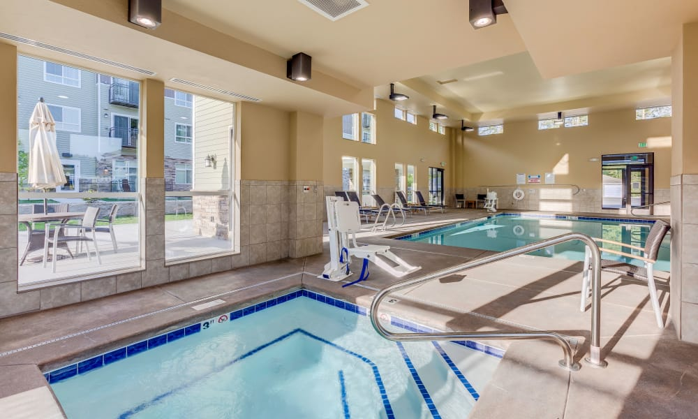 Beautiful indoor pool at Affinity at Lacey in Lacey, Washington