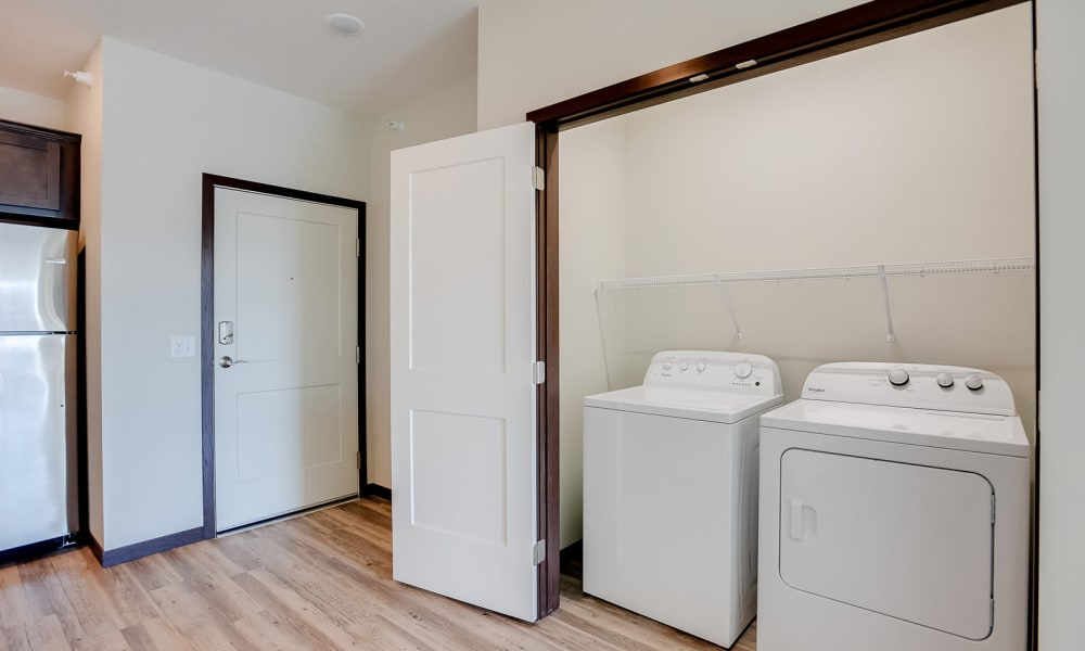 Full size washer and dryers included at Crossroads at Elm Creek in Maple Grove