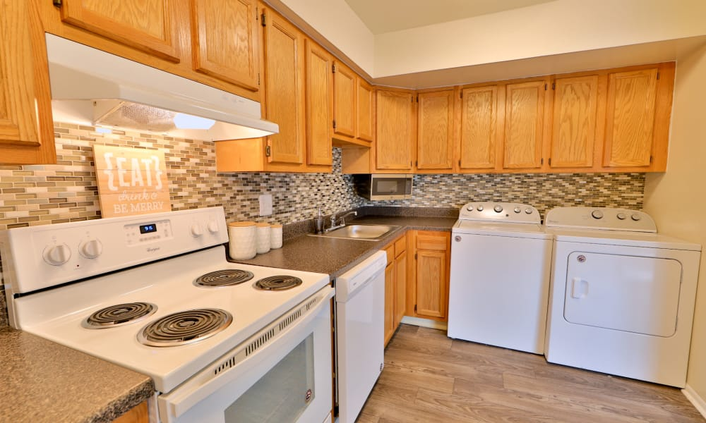 Kitchen at The Townhomes at Diamond Ridge in Baltimore, Maryland