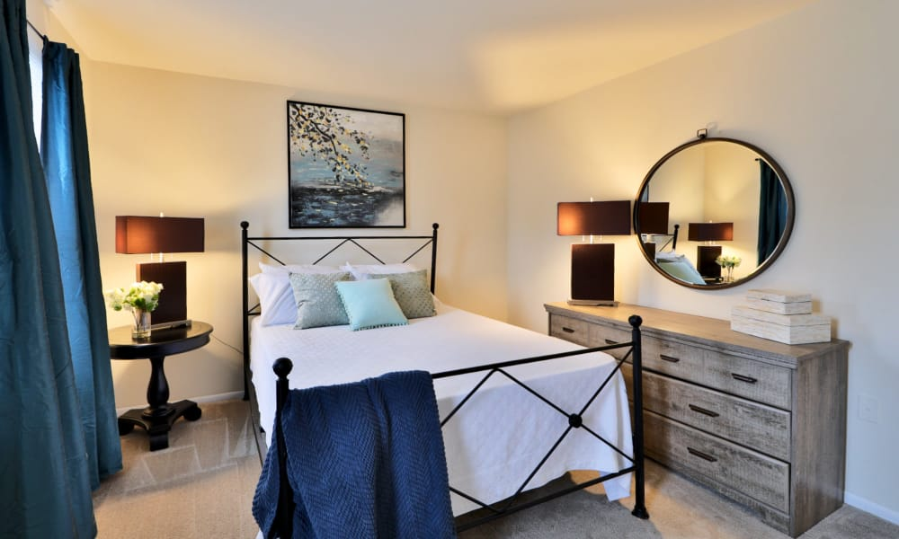 Bedroom at Apartments in Baltimore, Maryland