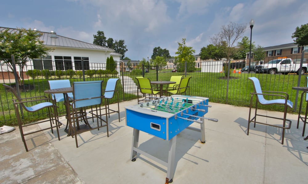 Foosball table at The Townhomes at Diamond Ridge in Baltimore, Maryland