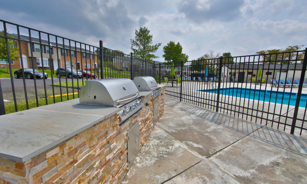BBQ Area at The Townhomes at Diamond Ridge in Baltimore, Maryland