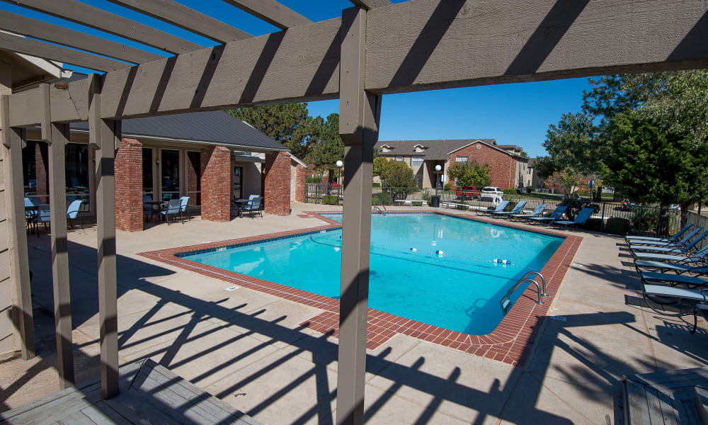 The community pool at Tammaron Village Apartments in Oklahoma City, OK
