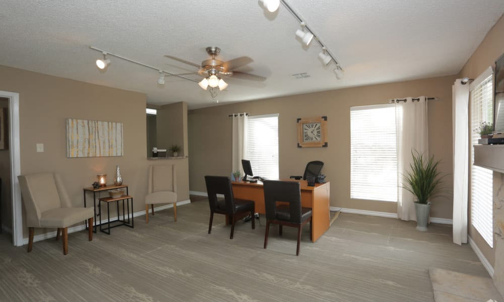 An apartment office room at Double Tree Apartments in El Paso, Texas