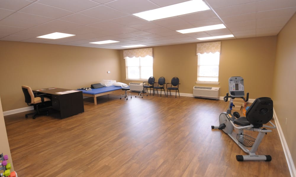 Therapy gym at The Birches at Newtown in Newtown, Pennsylvania