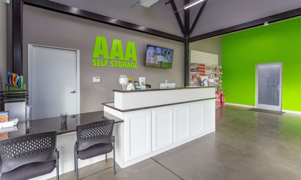 Leasing office AAA Self Storage at Eastchester Dr in High Point, NC