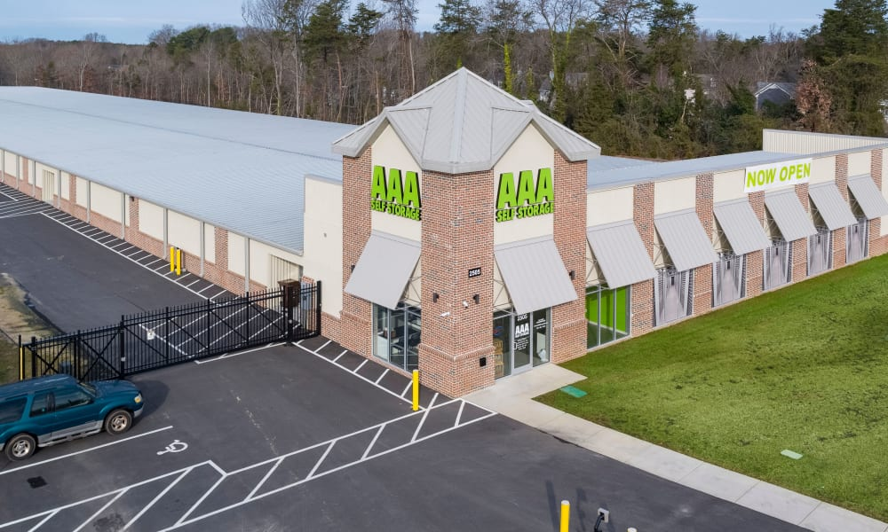 View of facility at AAA Self Storage at Eastchester Dr in High Point, NC