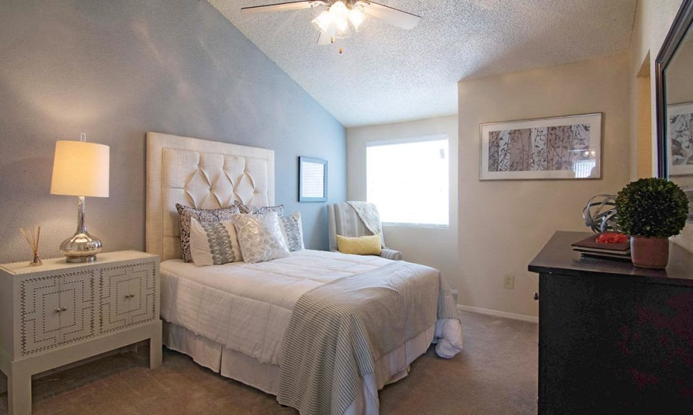 Guest bedroom at 2111 Holly Hall in Houston, Texas