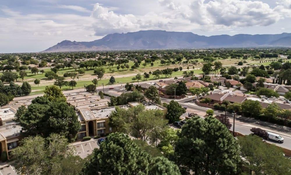 City view from Casa Tierra in Albuquerque, New Mexico